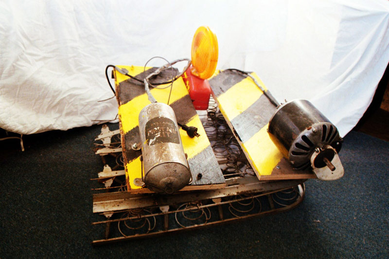 Caution (Kinetic Sculpture), Found Objects, 2001, Aaron Joseph