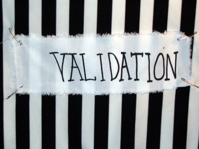 'Validation' Punk Patch from White Exotification ... Hypergamy ... Marrying Up, Screen Print on Cotton, 2004, Aaron Joseph